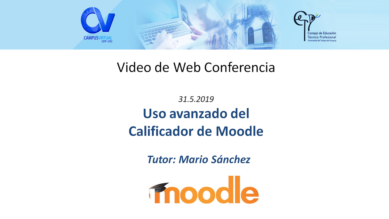web conferencia curso avanzado calificador